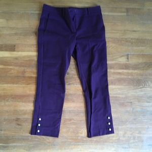 Purple with pearl ankle detail work pants